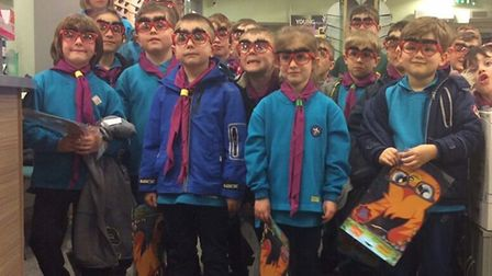 Thetford Beavers visit their nearby opticians. Picture: Specsavers