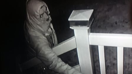 Police are keen to speak to this man in connection with an arson at the Poppyfields Caravan Park in