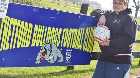 Kirsty Turner, youth football coach at Thetford Bulldogs FC. Picture: Sonya Duncan