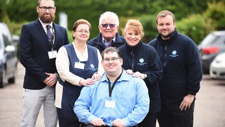Members of the Charles Burrell Centre team. Pictured are (from left), manager Mark Snowdon, Rosemari
