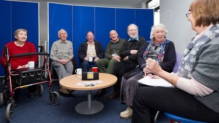 Members of the NNAB Thetford Audio Book Club discussing their latest title. Picture: Keith Mindham