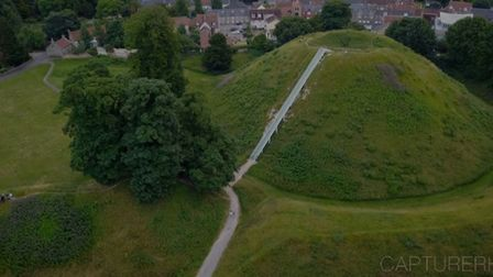 Castle Hill in Thetford shot from a drone. Photo: Ray Hoogendijk