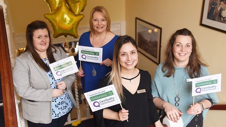 Staff and residents at Ford Place Nursing Home in Thetford are celebrating gaining an outstanding CQ