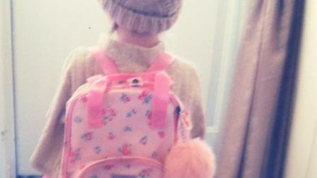 This pink Cath Kidston bag was stolen from a car in Thetford along with two red Amazon Fire 8 HD tab