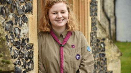 Elizabeth Wright is raising money ahead of her trip to the World Scout Jamboree in USA next year.Byl