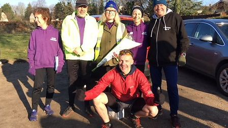 Runners who have been present since the very first Thetford park run. Picture: Melanie Floyd