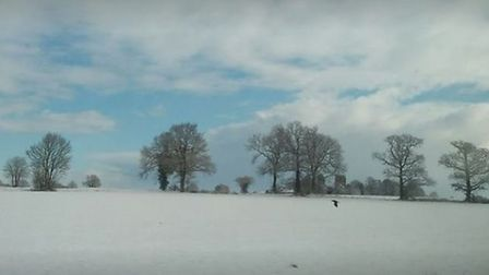A lovely wintery scene taken just outside Thetford and heading towards Diss. Picture: Jason Simpson