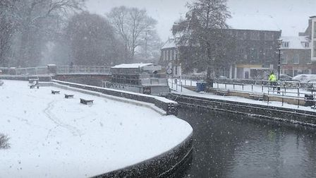 Thetford looking pretty in the snow. Picture: Mel Sturman
