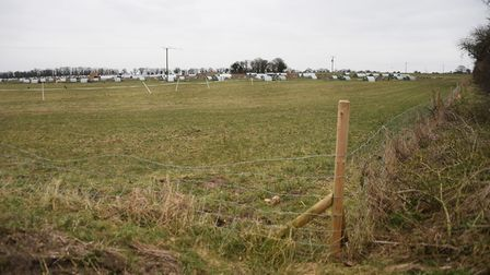 The field on Kenninghall Road at East Harling which is the site of a proposed housing development of