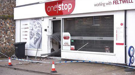 The Post Office in Feltwell was ram raided in the early hours of Monday morning. Picture: Ian Burt