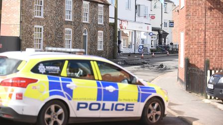 A Police cordon was put in place. Picture: Ian Burt