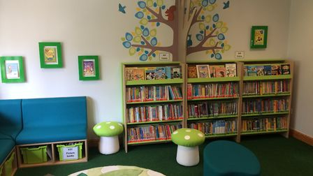 The refurbished Weeting Primary School library. Picture: Rebecca Murphy