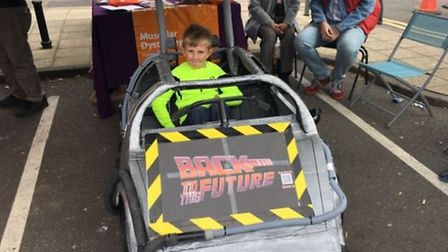 Zachery Main, eight, from Thetford, goes 'Back to the Future' with his entry at the Thetford Soapbox