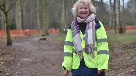 Trailing the Hidden Heritage of High Lodge project manager Anne Mason. Picture: Sonya Duncan