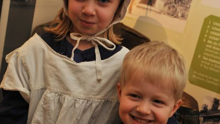 Children in Victorian style costumes at Thetford's Ancient House Museum. Picture: Ancient House Muse