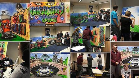A montage of the Thetford graffiti boards. Picture: Suzanne Crannage