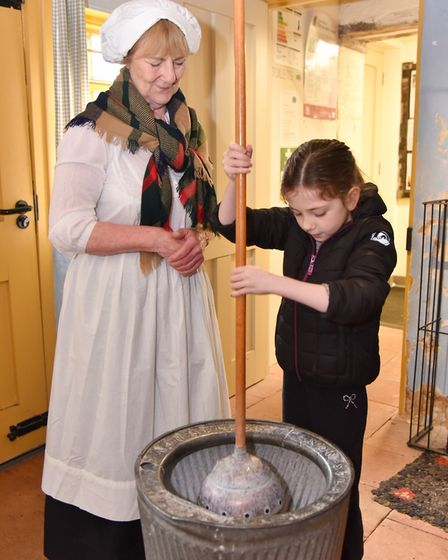 Visitors to the Ancient House Museum in Thetford learn how things were kept clean in Victorian times