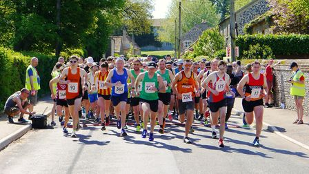 Action from the early stages of the Breckland 10k. Picture: JAMES McKELLAR
