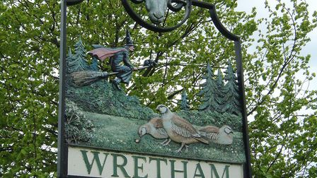 Wretham village sign. Picture: ARCHANT LIBRARY