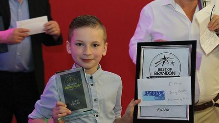 Alfie Keeley was awarded the Young Volunteer award at the Best of Brandon awards for his work with
