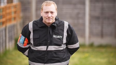 Thetford Tesco security guard Jim Fenner fought against smoke from a flat fire to help residents to