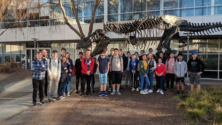 Mildenhall College Academy pupils during their trip to San Francisco. Picture: Mildenhall College Ac