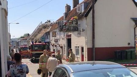 Firefighters were called to a house blaze in Thetford. Picture Gary Connelly.