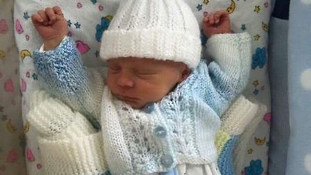 Baby Frankie was the inspiration for the Warm Baby Project. Born prematurely he was given knitted it