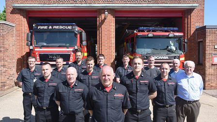 Thetford firefighter Alan Prior is retiring later in May following nearly 43 years service. Also pic