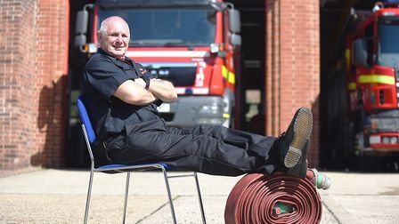 Thetford Fire Station on-call watch manager Alan Prior is retiring at the end of May following nearl