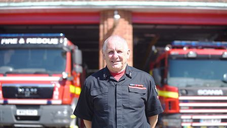 Thetford-based firefighter and watch manager Alan Prior is retiring later in May. Picture: Ian Burt