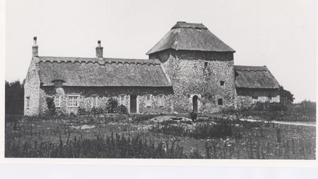 Thetford Warren Lodge. In 1935 the wings were destroyed by fire. Picture: Norfolk Museum Services