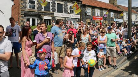 Brandon Carnival crowds on Market Hill. Picture: Terry Hawkins