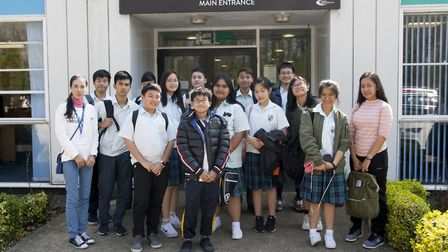 The pupils from Thailand visiting Mildenhall College Academy. Picture: MCA