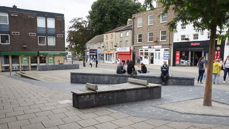 The King Street Square at Thetford is an area where youths congregate. Picture: DENISE BRADLEY