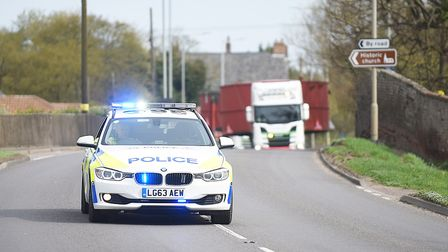 File picture of police escorting an abnormal load. Picture: Ian Burt