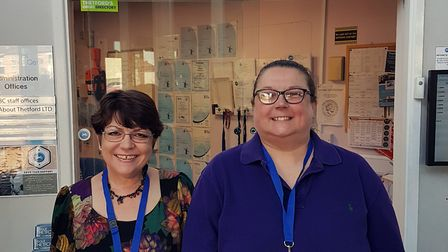 New Charles Burrell Centre staff members. Lyn Keane, project coordinator, and Julie Smith, project a