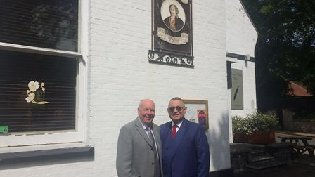Thetford mayor and Cobra Domestic Appliances owner Roy Brame and Thomas Paine hotel owner Gez Chetal