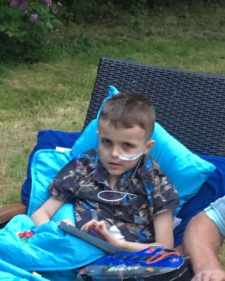 Seven-year-old Liam Roberson was diagnosed with an extremely rare form of liver cancer for children
