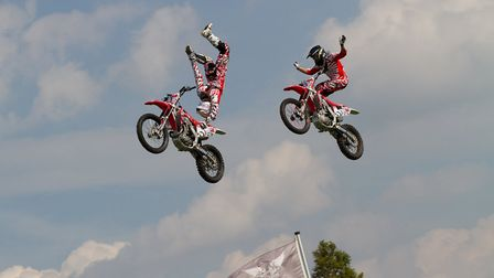 The Bolddog Lings FMX display team will perform at the Euston Rural Pastimes event. Picture: Mark Ca