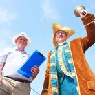 The Methwold Auction Mart is celebrating its 400th year. Pictured are (L) Auctioneer George Reeve an