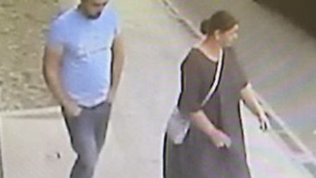 Police would like to speak to the man and woman following a theft at Thetford Screwfix. Picture: Nor