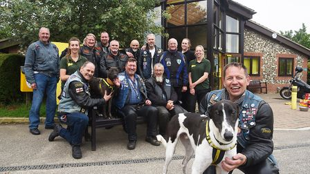 The Blue Knights England X motorcycle club made a charity run to the Dogs Trust at Snetterton. Pictu