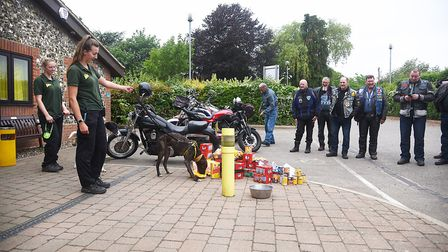 The Blue Knights England X motorcycle club made a charity run to the Dogs Trust at Snetterton, dropp