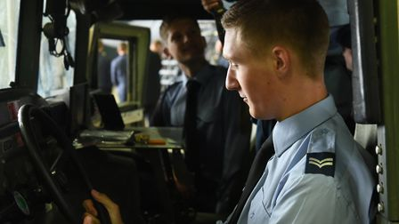 More than 100 RAF Air Cadets visited RAF Lakenheath as part of their annual Cadet Day. Picture: US A