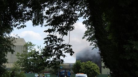 Fire at Viridor in wretham near Thetford. Picture: Marc Betts