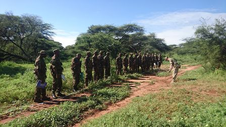 Personnel from RAF Honington taking part in the training mission for the Kenyan Army. Picture: Briti