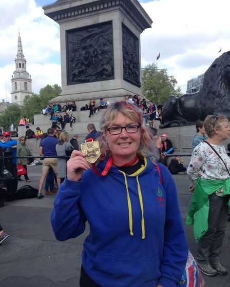 Melanie Sturman completed the marathon and raised money for the youth development charity Latitude