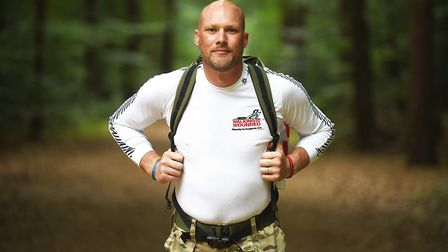 Barry Wall, a former Coldstream Guard, is doing a 3.5 mile mixed march every other day in July, to s