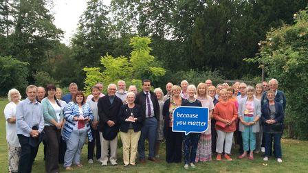 Thetford Open Gardens volunteers and helpers. The event raises money for St Nicholas Hospice Care. P
